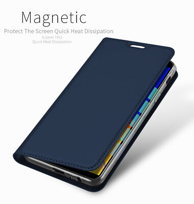 DD For Samsung Galaxy J4 Plus J4+ PU Leather Flip Case Wallet Magnetic Cover
