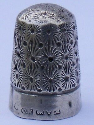 #5 Antique 925 Sterling Silver Thimble, Chester 1912?, Charles Horner.