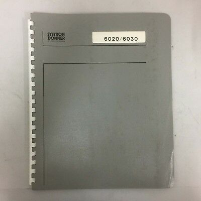 Systron Donner 6020/6030 Microwave Freq Counter Operating Manual (D/N 120075-01)