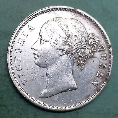 British India-Silver-Victoria Queen-Year 1840-One Rupee-Wt:-11.560 Gm.