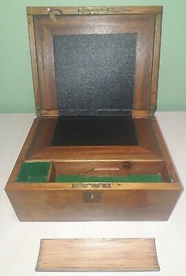 Antique Victorian portable travelling writing slope