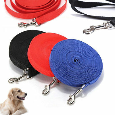 Pet Dog Leash Long Obedience Foot Feet Training Lead 6 15 20 30 50 100FT UK POST