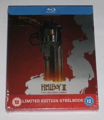 Hellboy II The Golden Army Blu Ray Steelbook UK Exclusive New Sealed Limited