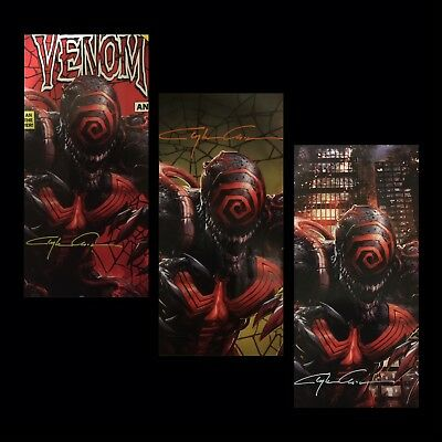 Venom #1 Annual Signed By Clayton Crain Variant Set Covers Abc In Stock Now Nm