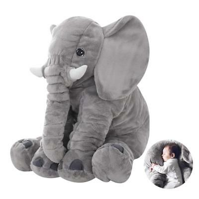 60Cm Long Nose Baby Elephant Pillow Xl Plush Sleeping Cushion Xmas Gift Kid Toy