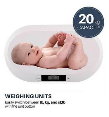 20Kg Baby Scale Digital Electronic Weighing Infant Pet Bathroom  44Lbs - 10G Chn