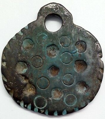 Bronze amulet pendant Solar signs / Sowing field 800-1300AD. Viking