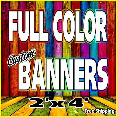 "2'x 4' Custom Vinyl Banner, 13oz FULL COLOR (24""x48"")"