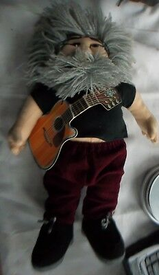 Liquid Blue The Jerry Doll JERRY GARCIA Grateful Dead w/ Guitar/Tag PLUSH 18""