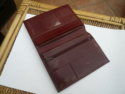 Superb Quality Hennessy Cognac Vintage Maroon Real Leather Jacket Wallet