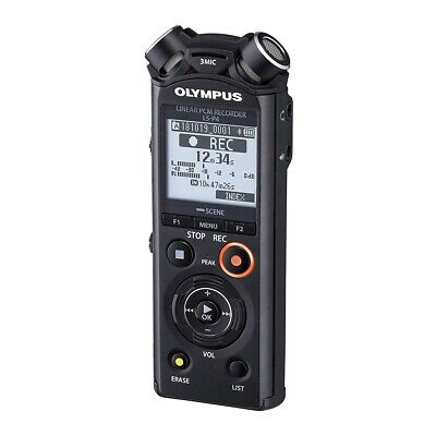 Olympus V409160BE010 LS-P4 Linear PCM Audio Recorder Kit Music Voice Recorder