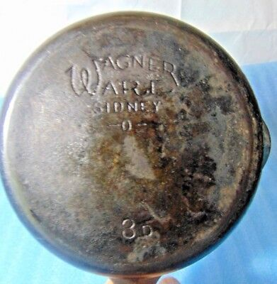 Antique Wagner Ware Sidney O #3 D Cast Iron Skillet Fry Pan Flat No Wobble