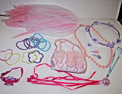 Lot: Fairy Skirt, Purse, Headband, 3 Neckaces,10 Bracelets, 4 Hairclips, 2 Rings
