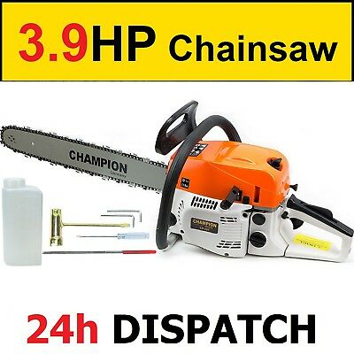 "Petrol Chainsaw FUEL SAVE - 52cc and 3.9HP - German Quality - 18"" + EXTRA TOOLS"