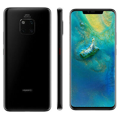 New Huawei Mate 20 Pro 128GB Dual Sim Unlocked Black, Next Day Delivery