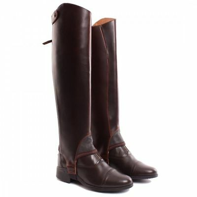 Ariat Close Contact Chap gaitors half chaps waxed chocolate brown read sizing