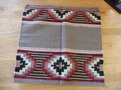Terrific Navajo-Style Chief Horse Blanket 34.5 x 35.5 - Beautiful Colors