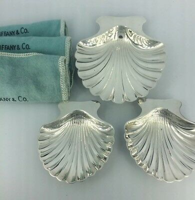 Tiffany Sterling Silver Shell Dishes Set Of 3