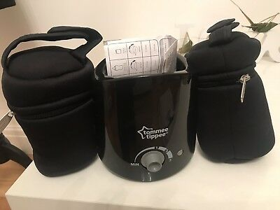 Tommy Tippee Bottle Warmer & 2 Insulated  Bottle Carriers