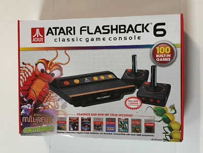 Atari Flashback 6 Classic Game Console With 100 Built-in Games NEW in Sealed Box