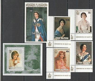 Ascension Island 1986 Mnh Queen Elizabeth 60th Birthday 40th Wedding Fast Color Stamps