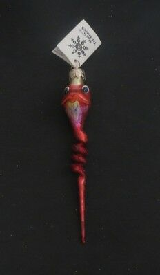Slavic Treasures Twisted Toad Red NEW Glass Christmas Ornament