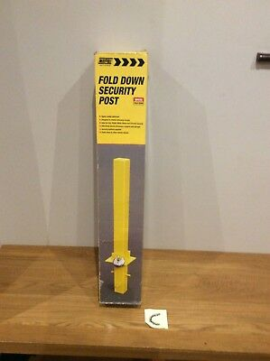 Maypole Fold Down Heavy Duty Security Parking Post Driveway Bollard