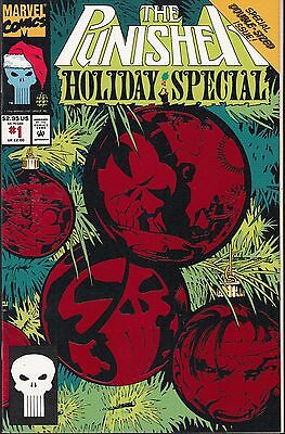 PUNISHER: HOLIDAY SPECIAL  #1 1993 MARVEL D/SIZE FOIL-c  GRANT-s/ RAMOS-i...NM-