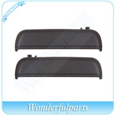 Black Front Outer Outside Exterior Door Handle Pair Set for 95-99 Toyota Tercel
