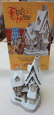 David Winter Special For Christmas 1991 Fred's Home Hand Made Cottage