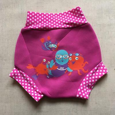 Pink Baby Zoggs Swimsure Neoprene Swimming Pants Nappy Cover 6-9 Months