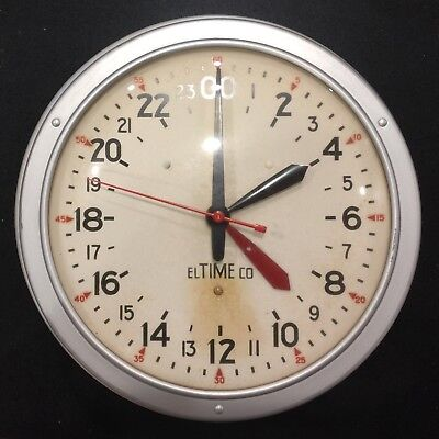 Vintage El Time Co. Military GMT Wall Clock