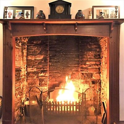 Edwardian / Victorian style very large solid wood fire surround
