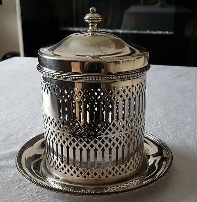 Silver plated container.