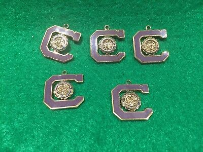 Lot of 5 Vintage Clemson University Alumni Association Charms