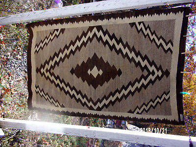 "vintage traditional design Navajo wool rug 41"" x 65"" relisted from last week"