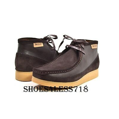 New Mens British Walkers Original Exclusive Two Tone Brown Leather Wallabees a6a94628e