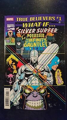 True Believers: What If The Silver Surfer Possessed The Infinity Gauntlet? #1