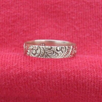 Beautiful Antique Vintage Yellow or Rose Gold Art Nouveau Ring with B Hallmark