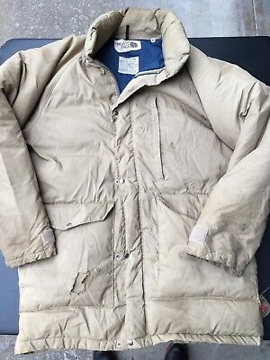 56257d2cde The North Face Size XL Vintage Brown Label Goose Down Puffer Jacket USA Used