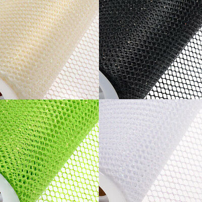 GLITTER HONEYCOMB NET 10M x 150mm ROLLS WEDDING SASH PARTY TABLE RUNNER BLACK