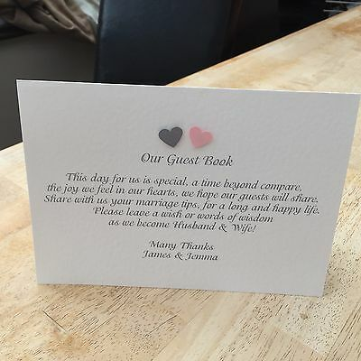 Guest Book Sign - Double Sided - Can Be Customised