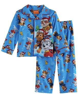 Paw Patrol Toddler Boys 2 Pc Fleece Button Up Holiday Pajama Set NWT  2T  or 3T