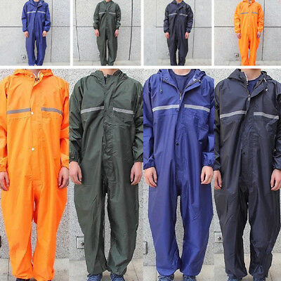 Waterproof Rain Suit Motorcycle Raincoat Overalls Men Work Jumpsuit Outdoor Coat