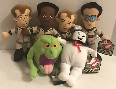 """Ghostbusters Plush Set 11"""" Stuffed Toy Factory 2011 Stay Puft Slimer Egon Stantz"""