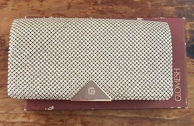 Vintage retro Glomesh wallet clutch - new with box