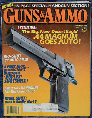 Magazine GUNS & AMMO October 1986 NAVY ARMS Luger PISTOL, WALTHER PPK Stainless