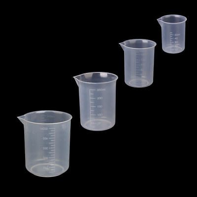 50/100/150/250/500ml Small plastic graduated measuring beaker/cup/container