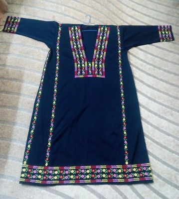 Antique Handmade Embroidered Thob Abaya Dress Traditional Palestinian Jordanian