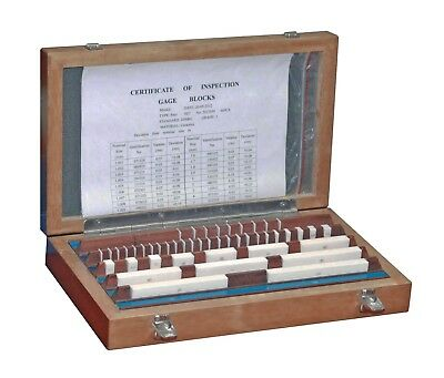 Gauge Block Set Ceramic - 47 Parts - 1,005 -100 mm - Quality 0 - New